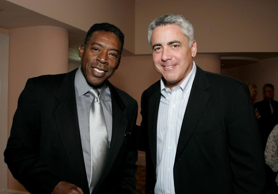 Adam Arkin and Ernie Hudson at the celebration honoring Geena Davis as this year's Hollywood Hero by USA Today for the See Jane Program at the Beverly Hills Hotel.