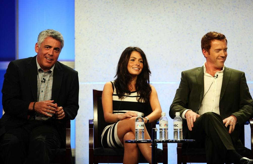 Adam Arkin, Sarah Shahi and Damian Lewis at the television show