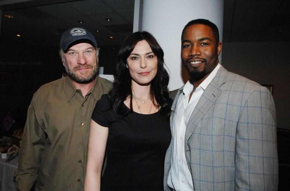 Ted Levine, Michelle Forbes and Michael Jai White at the premiere of