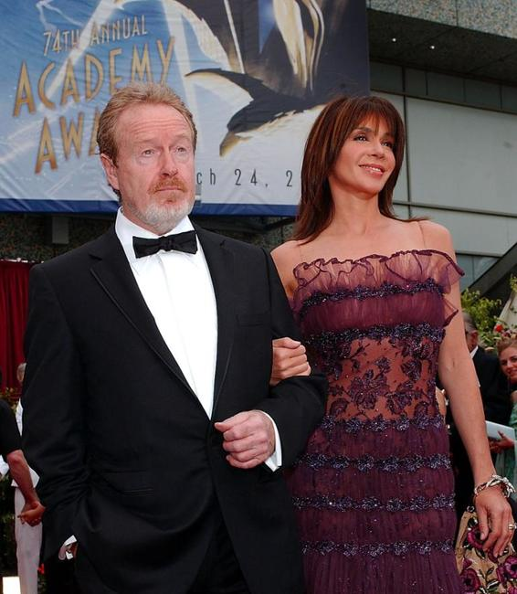 Ridley Scott and Giannina Facio at the 74th Academy Awards.