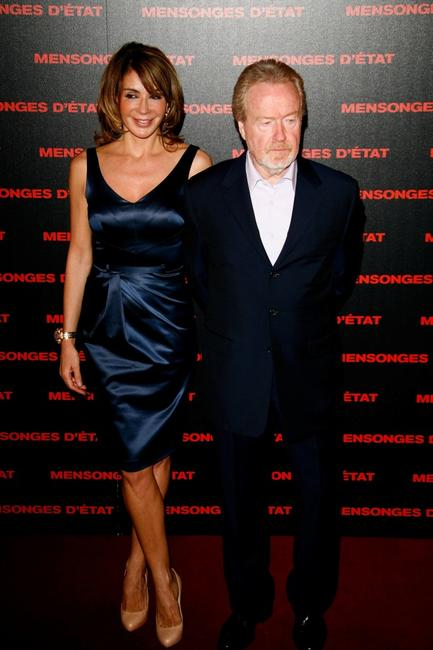 Giannina Facio and Ridley Scott at the Paris premiere of