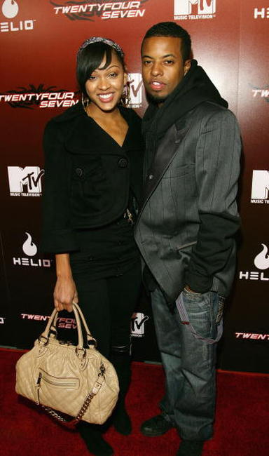 Meagan Good and Ty Hodges at the kick off party for MTV's reality show