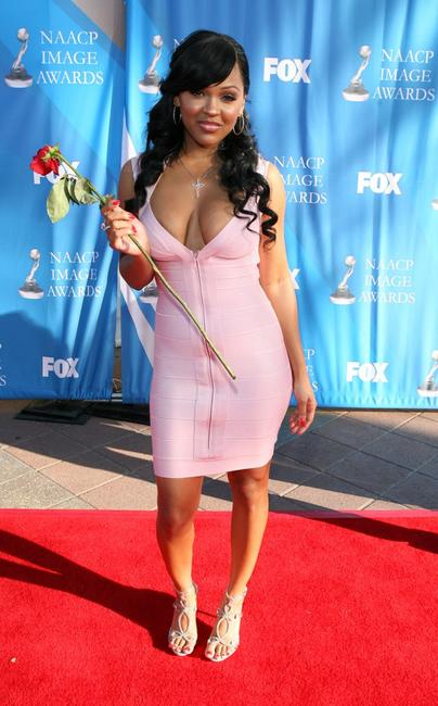 Meagan Good at the 39th NAACP Image Awards.