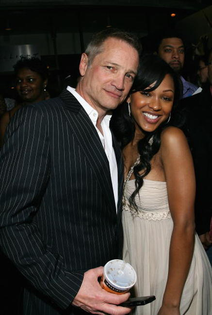 Clint Culpepper and Meagan Good at the premiere of