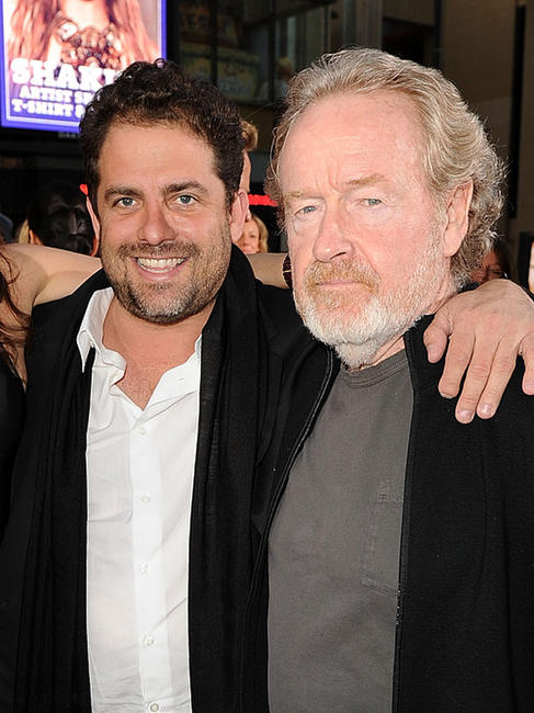 Brett Ratner and Ridley Scott at the California premiere of