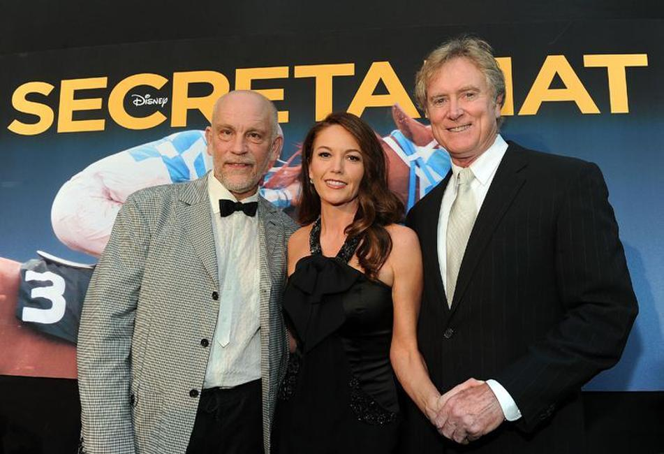 John Malkovich, Diane Lane and Randall Wallace at the premiere of