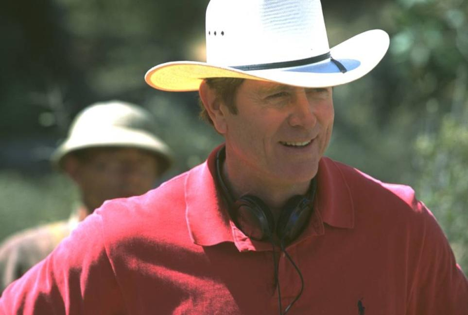 Randall Wallace on the set of