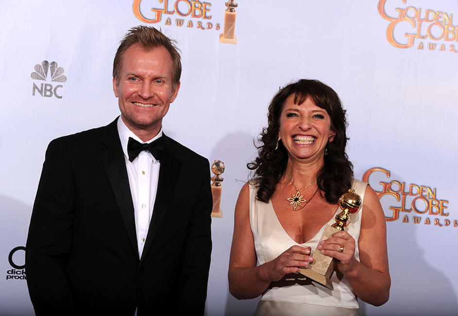 Ulrich Thomsen and Susanne Bier at the 68th Annual Golden Globe Awards.
