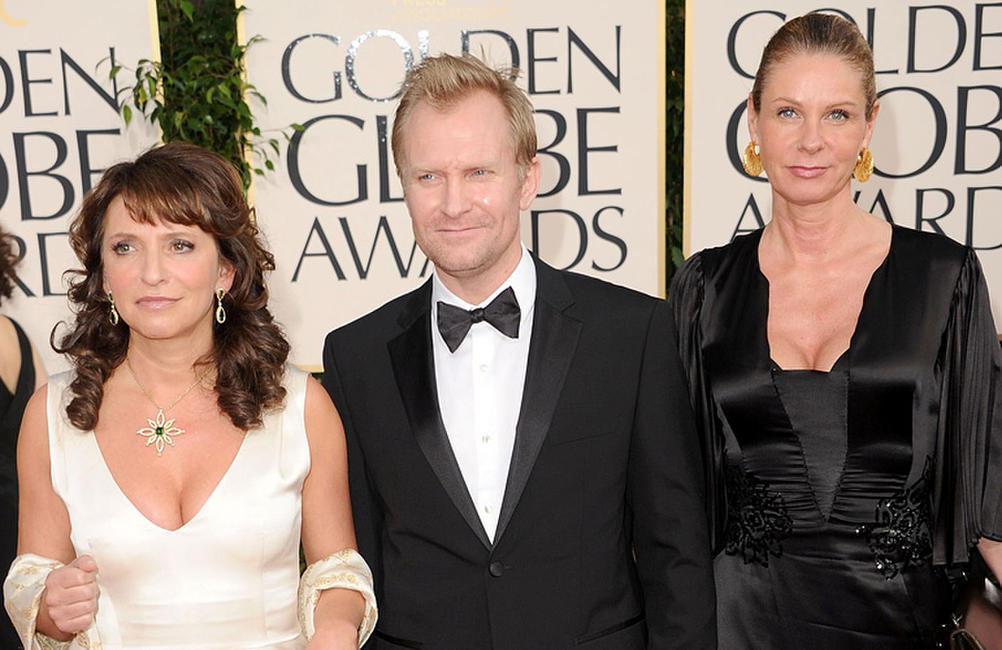 Susanne Bier, Ulrich Thomsen and Pernille Christensen at the 68th Annual Golden Globe Awards.