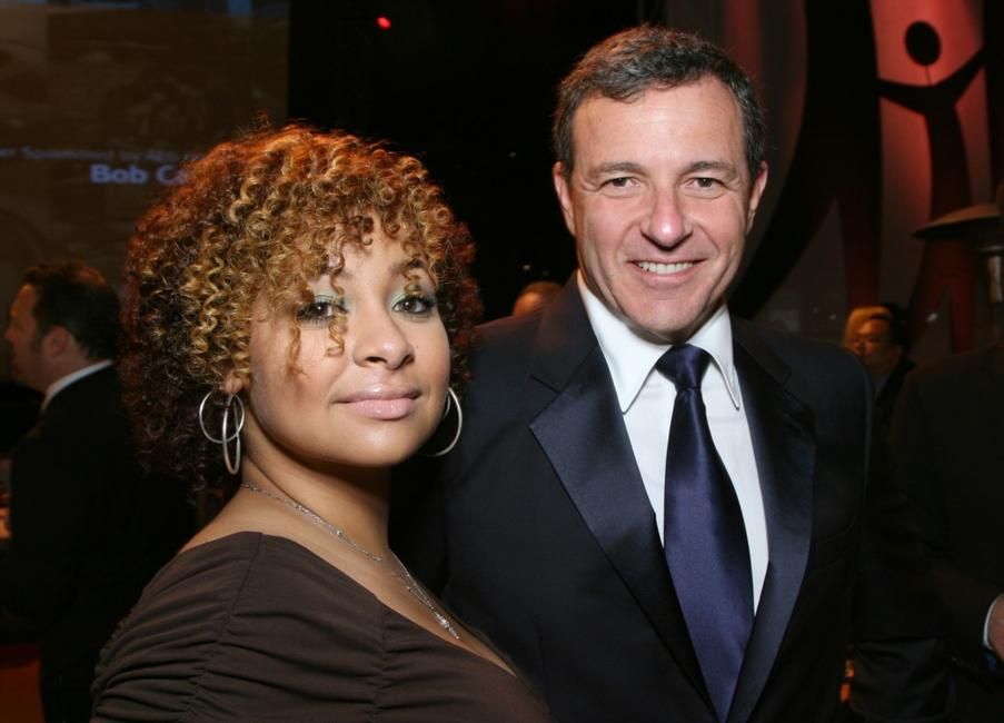 Raven Symone and Bob Iger at the City of Hope Spirit of Life Award dinner honoring Disney Music Group Chairman Bob Cavallo.
