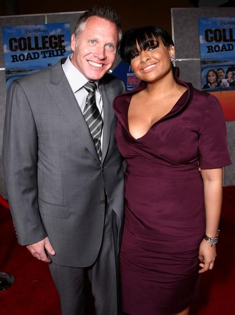 Andrew Gunn and Raven Symone at the world premiere of