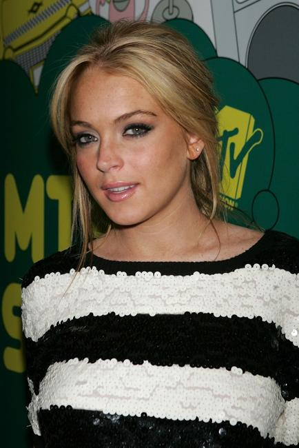 Lindsay Lohan at the MTV's Total Request Live.