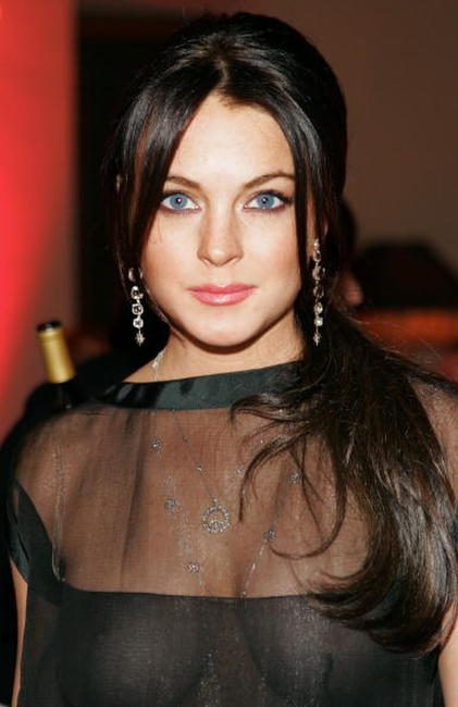 Lindsay Lohan at the Les Exclusifs de Chanel dinner at Chateau Marmont.
