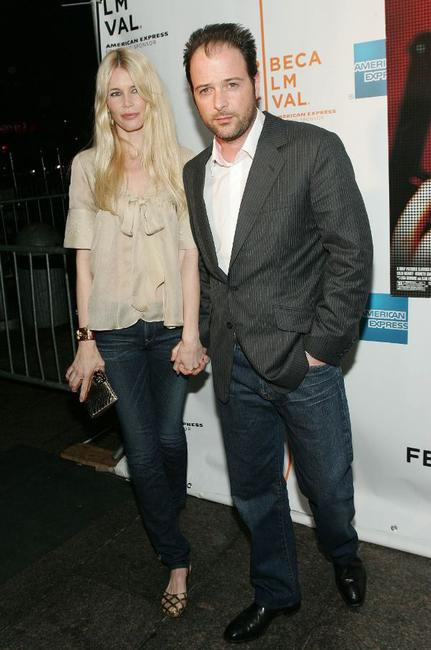 Claudia Schiffer and Matthew Vaughn at the Tribeca Film Festival.