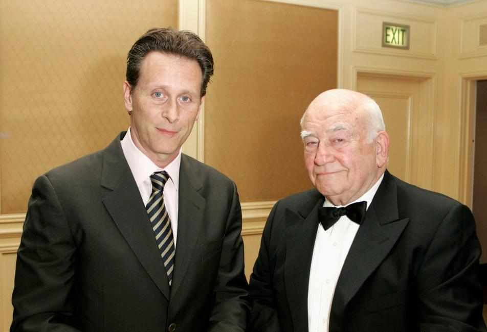 Ed Asner and Steven Weber at the Cure Autism Now's 10th Anniversary Gala.