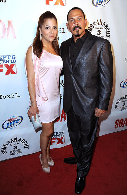 Yadi Valerio Rivera and Emilio Rivera at the California premiere of