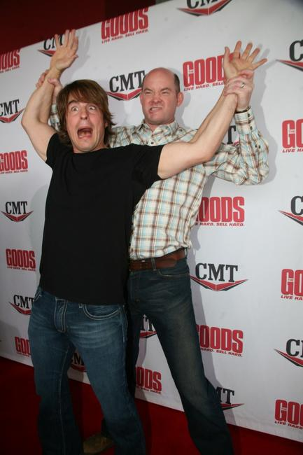 Jimmy Wayne and David Koechner at the Nashville premiere of