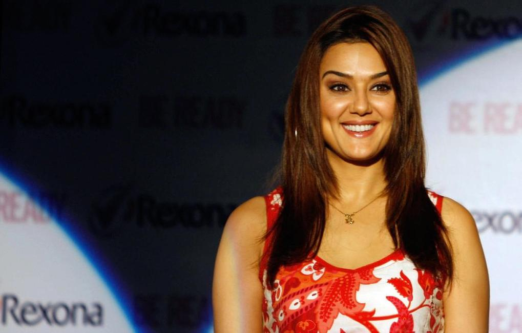 Preity Zinta at the promotional event for an Indian conglomerate.