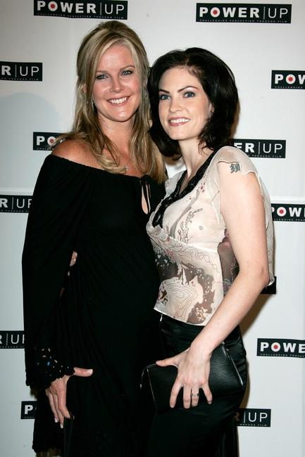 Maeve Quinlan and Jill Bennett at the Power Premiere Awards.