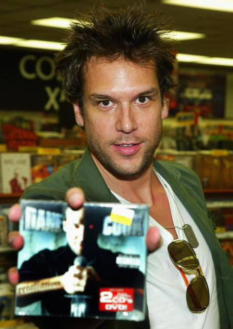Dane Cook at his DVD signing.