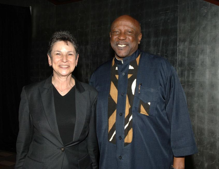 Louis Gossett, Jr. and Guest at the CNN, LA Times, POLITICO Democratic Debate.