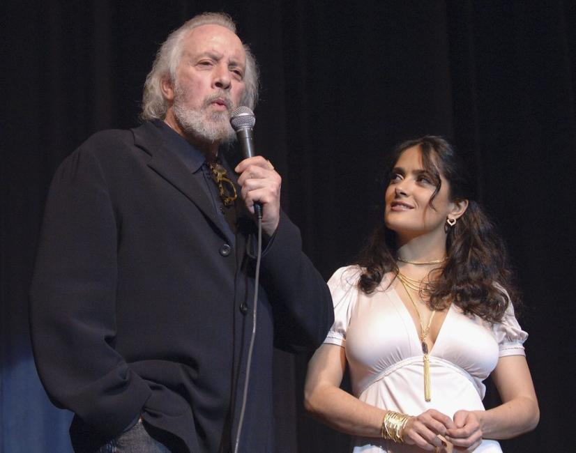 Robert Towne and Salma Hayek at the SBIFF Opening Night Film and Gala