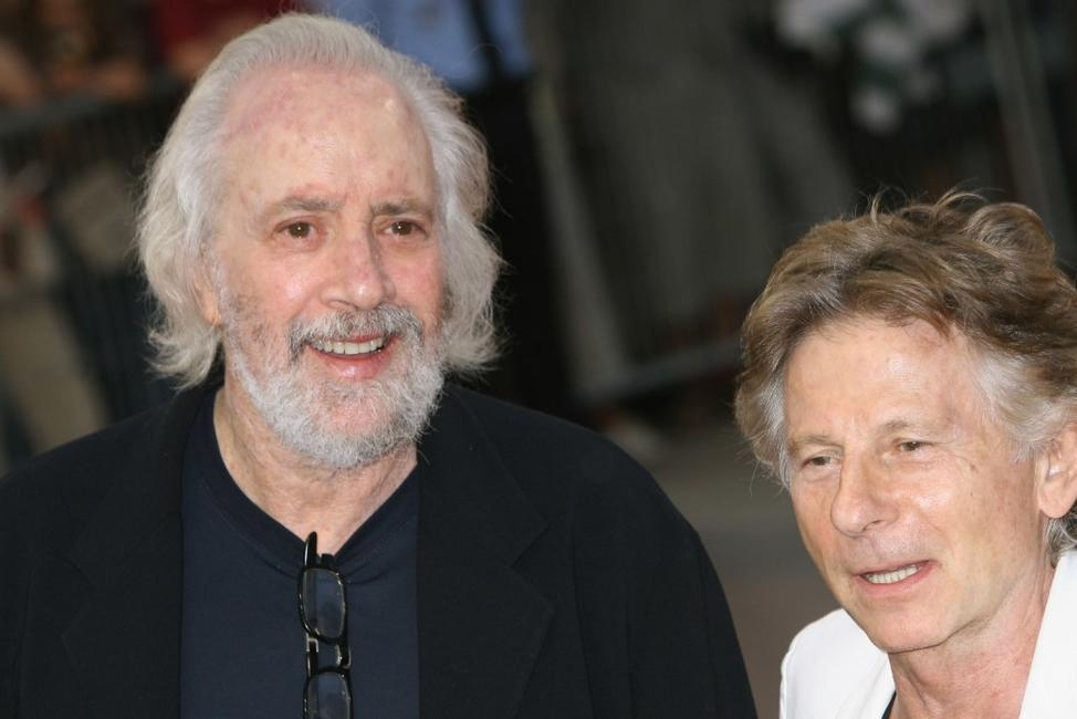 Robert Towne and Roman Polanski at the premiere of