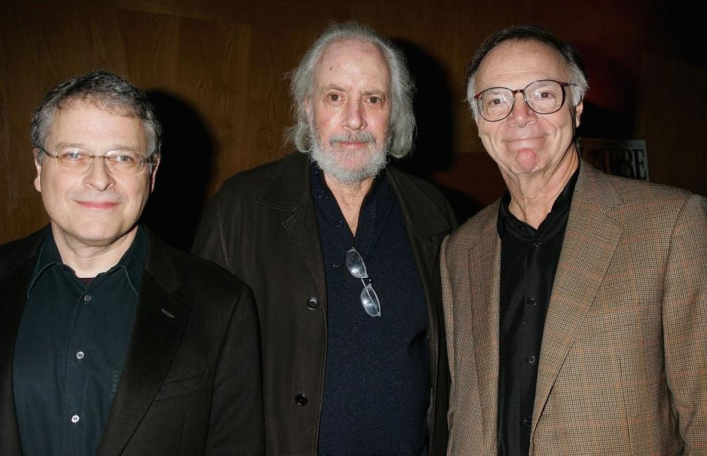 Lawrence Kasdan, Robert Towne and Nicholas Pileggi at the 101 Greatest Screenplays gala reception.