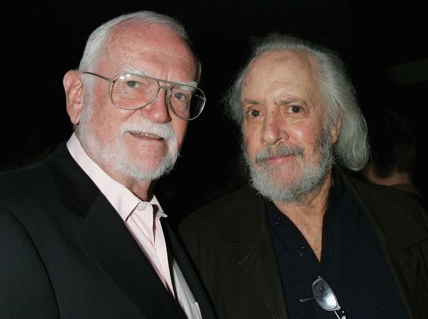 Frank Pierson and Robert Towne at the 101 Greatest Screenplays gala reception.