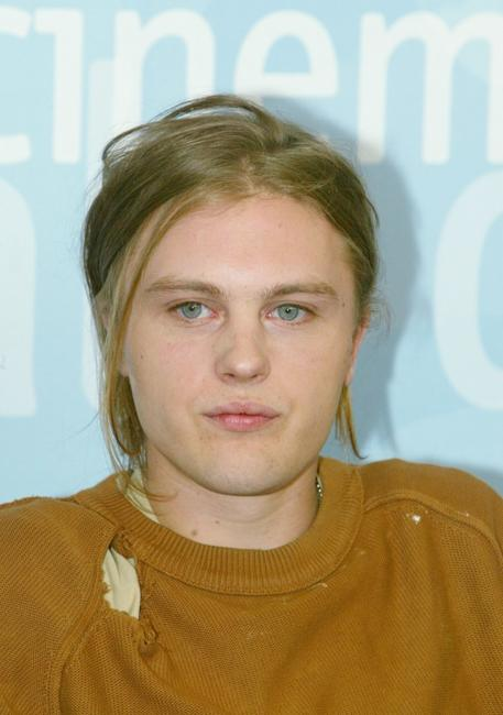 Michael Pitt at the photocall during 60th Venice Film Festival.