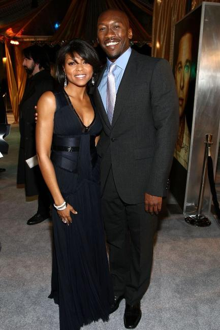 Taraji P. Henson and Mahershalalhashbaz Ali at the premiere of