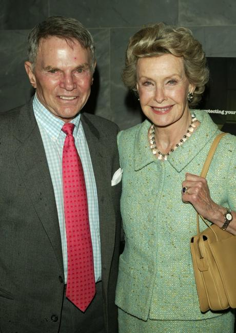 Ted Hartley and Dina Merrill at the premiere of