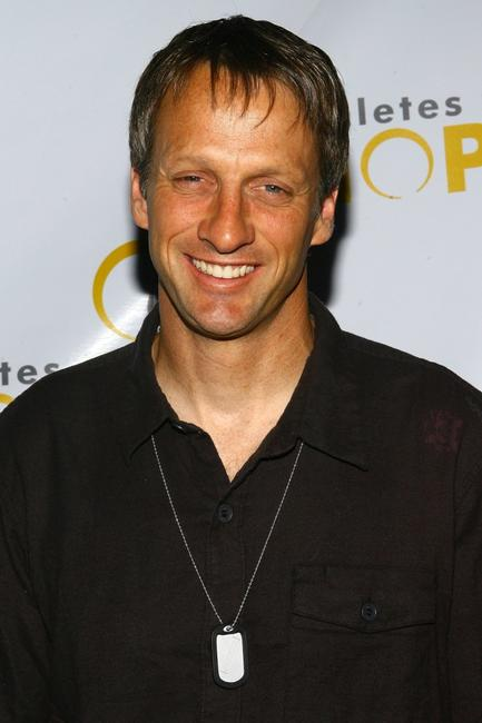 Tony Hawk at the press conference for Athletes for Hope.