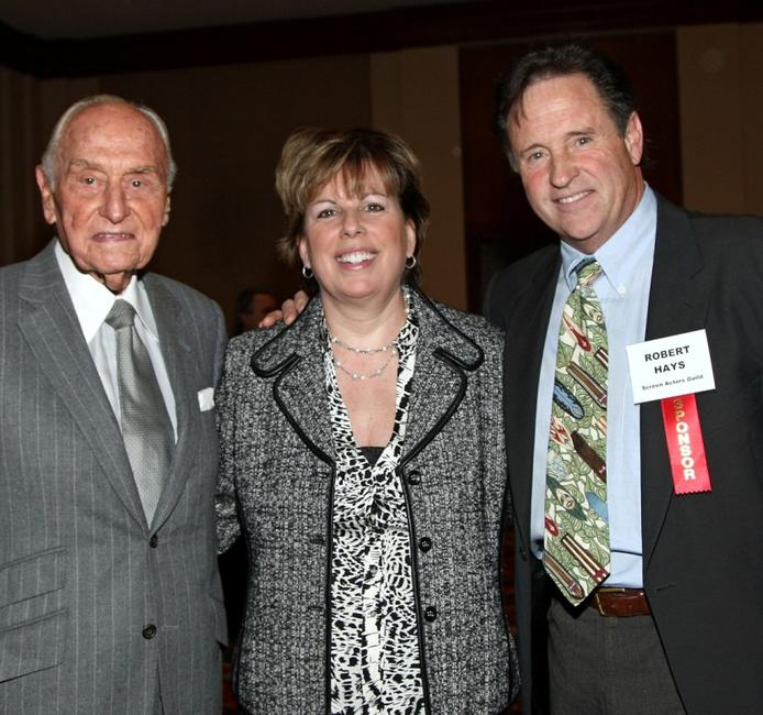 Producer A.C. Lyles, Ilyanne Morden Kichaven and Robert Hays at the Hollywood Chamber of Commerce's Annual Entertainment Industry Luncheon.