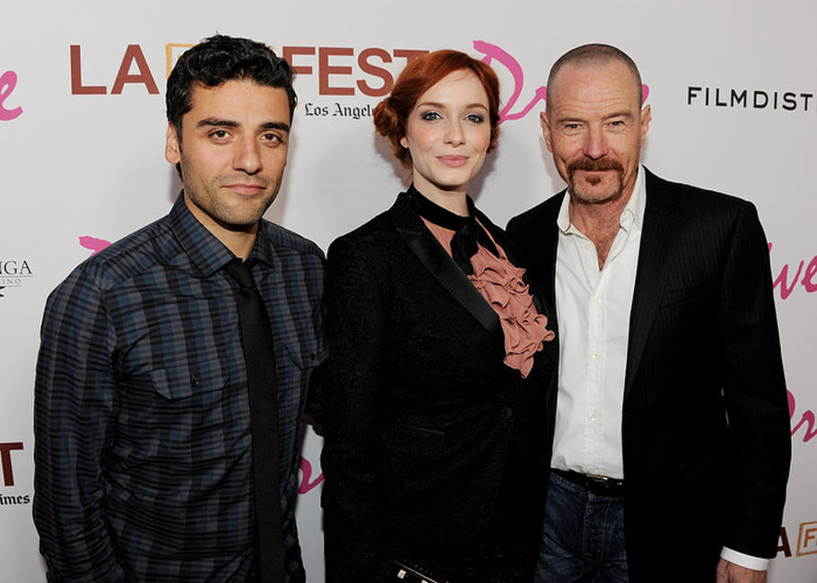 Oscar Issac, Christina Hendricks and Bryan Cranston at the California premiere of