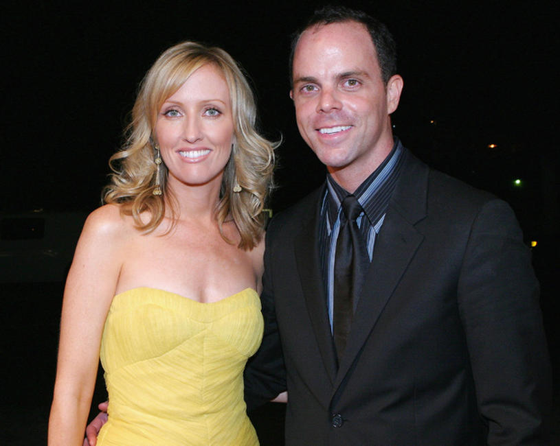 Janel Moloney and Alex Manette at the Warner Bros. Television Post Emmy party.