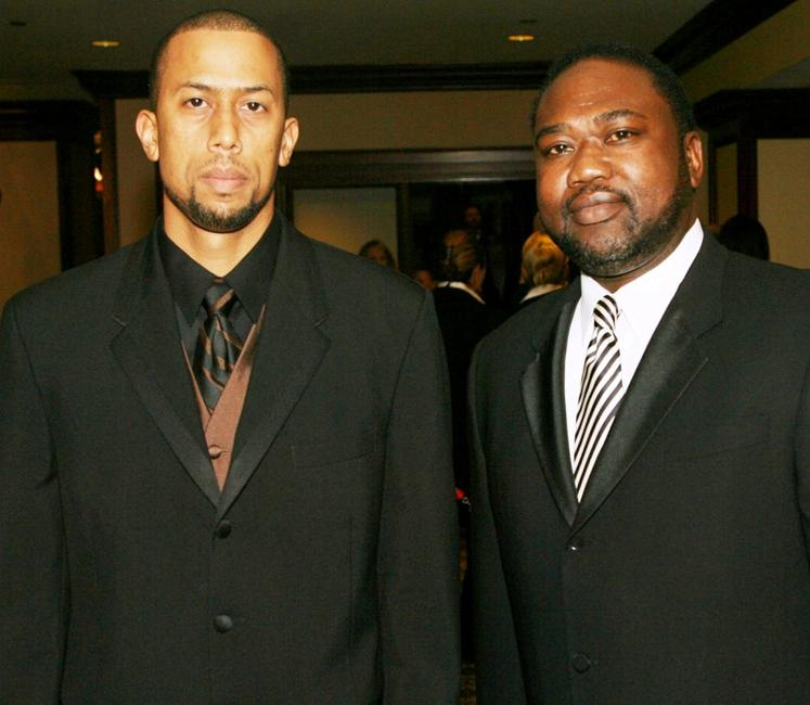 Affion Crockett and Gary Hardwick at the 59th annual Directors Guild of America Awards.