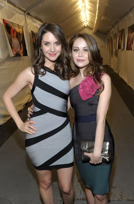 Alison Brieand and Alexis Dziena at the Mercedes-Benz Fashion Week Fall 2010.