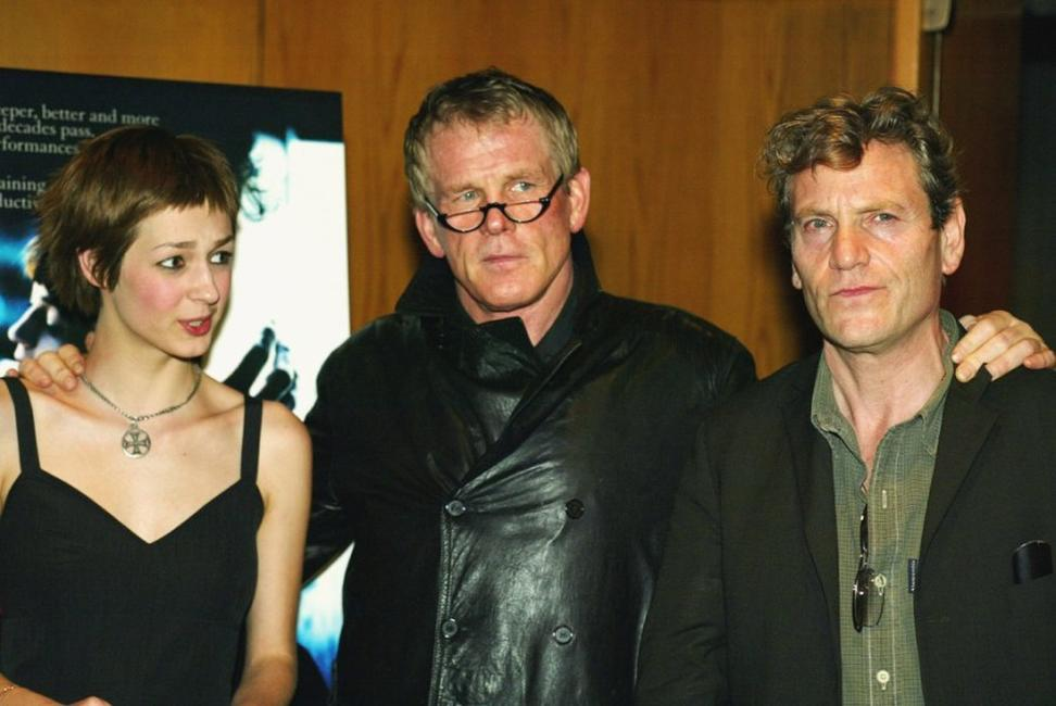 Nutsa Kukhianidze, Nick Nolte and Tcheky Karyo at the premiere of