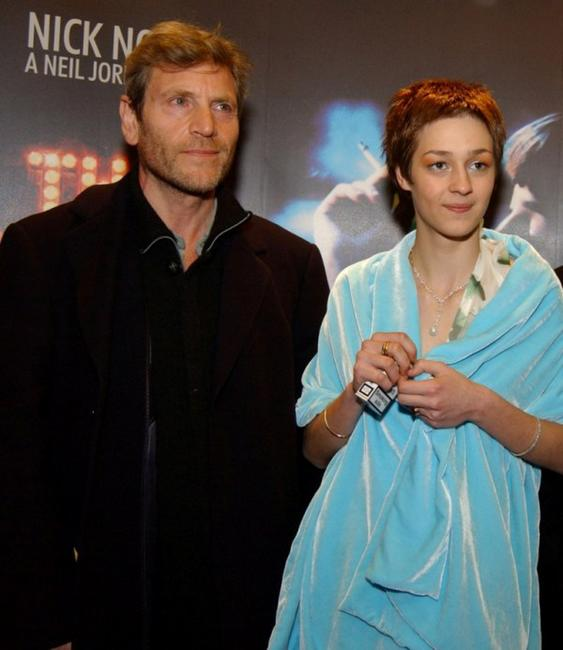 Tcheky Karyo and Nutsa Kukhiandize at the premiere of