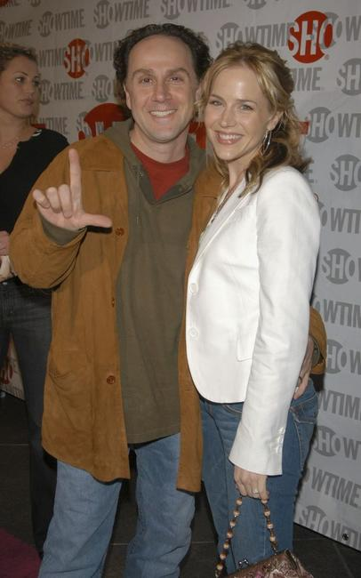 John Kassir and Julie Benz at the premiere of
