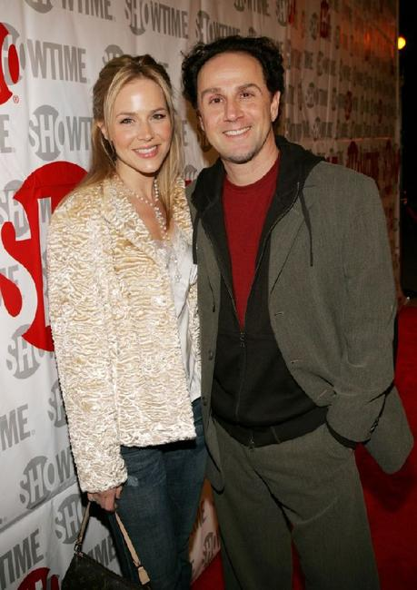 Julie Benz and John Kassir at the Showtime Host TCA Press Tour Party.