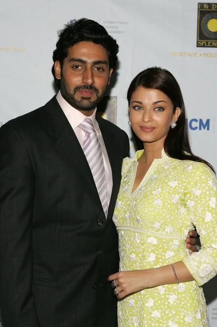 Abhishek Bachchan and Aishwarya Rai at the screening of