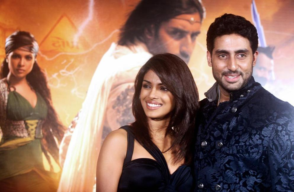 Priyanka Chopra and Abhishek Bachchan at the music release of