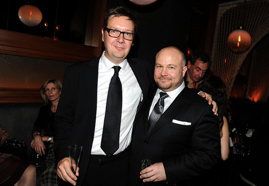Simon Egan and Gareth Unwin at the after party of the premiere of