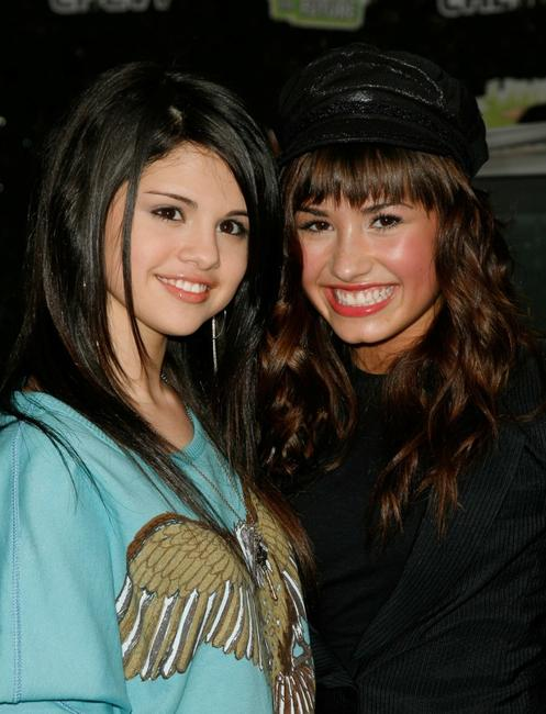 Selena Gomez and Demi Lovato at the Chevy Rocks The Future at Buena Vista Lot.