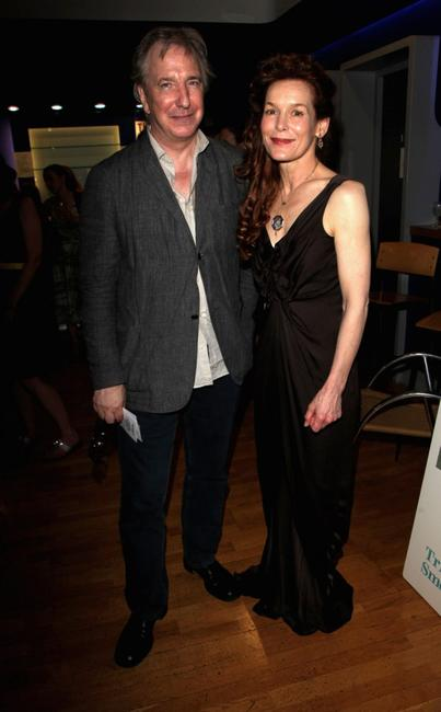 Alan Rickman and Alice Krige at the UK premiere of