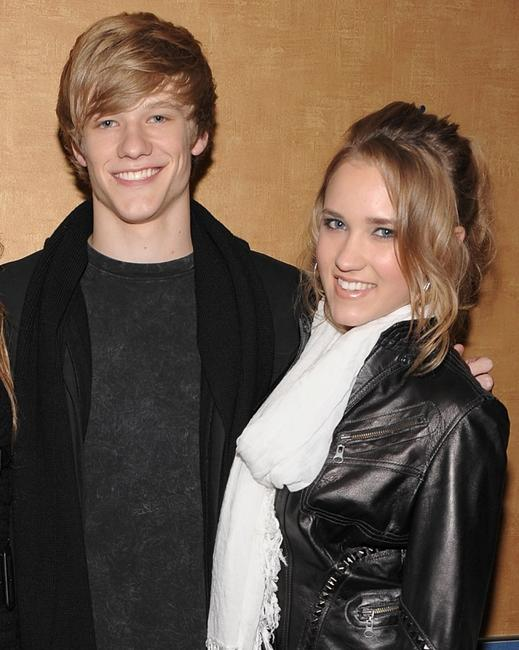 Lucas Till and Emily Osment at the screening of