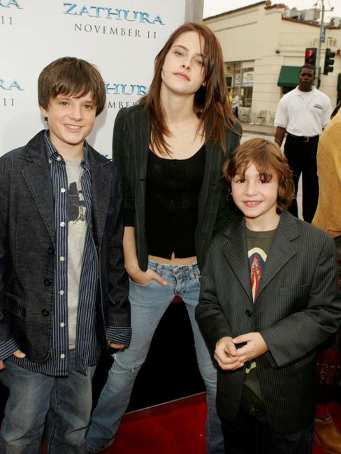 Josh Hutcherson, Kristen Stewart and Jonah Bobo at the premiere of