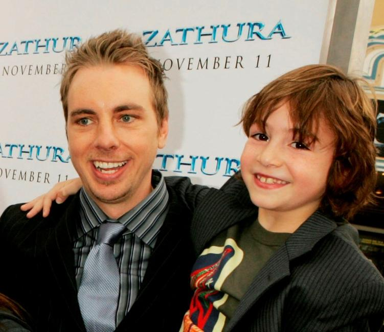 Dax Shepard and Jonah Bobo at the premiere of